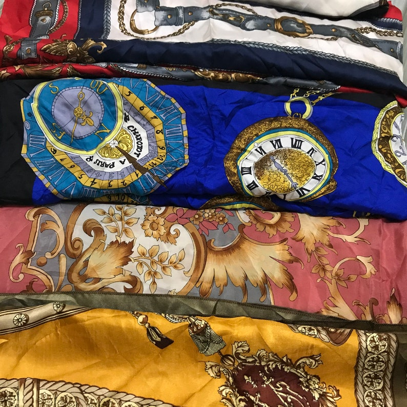Combo Random five silk scarves italian design flower combo scarf random colour 5 pieces