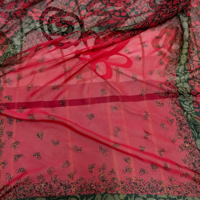 Pierre Balmain silk scarves vintage scarf Large size gift for her m size 34 inches