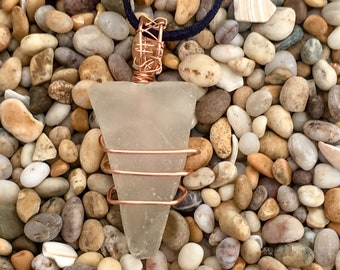 Sea Glass Wrapped in Copper - Selection#2