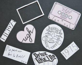 Ugh Stickers x8 The 1975