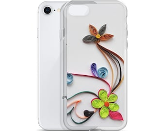Iphone case with handcrafted flowers