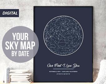 Custom star map | Etsy