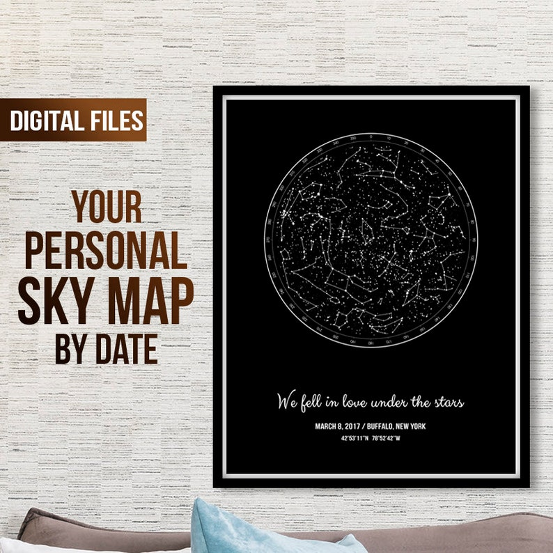 Custom Sky Map, Custom Sky Print, Star Map Art, Personalized Sky Map, Night  Star Maps, Star Map Poster, Star Map Gift, Star Map By Date Pdf
