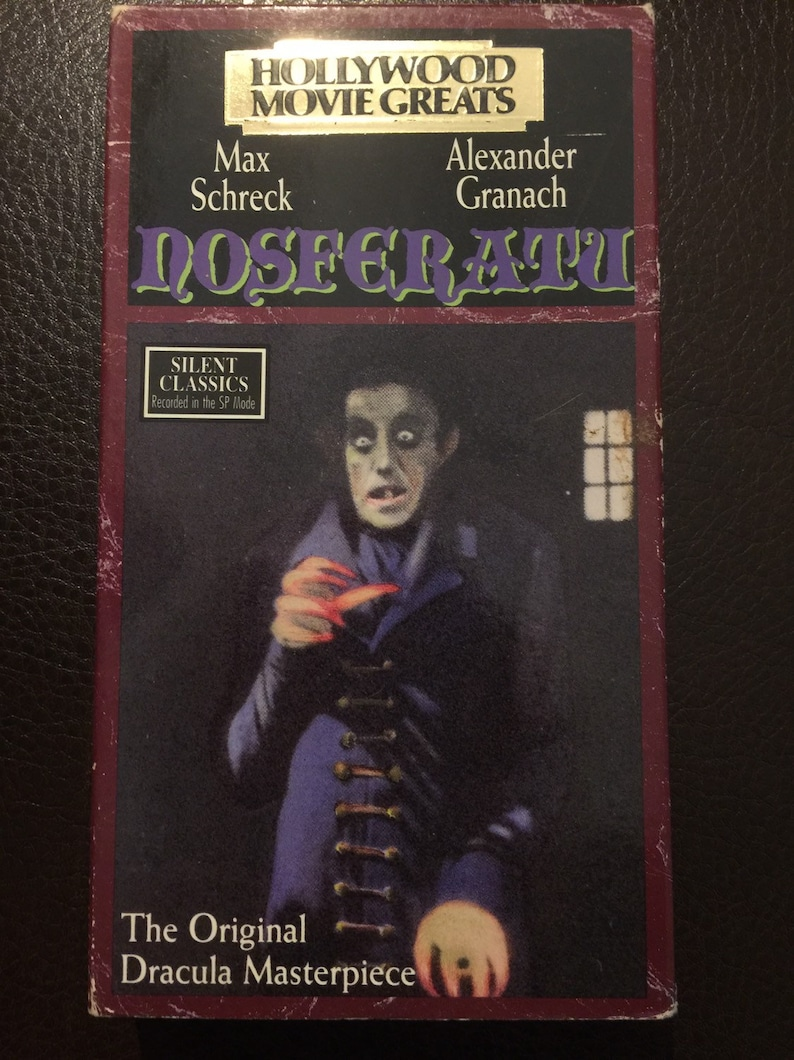 Nosferatu VHS tape, 1922 movie released on VHS on this Silent Classic  Series in 1990, vintage horror movie