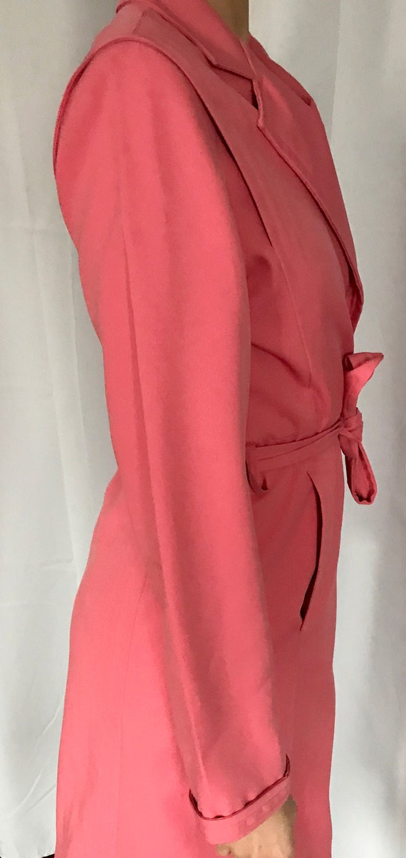 Vintage Rouge Pink Trench Coat - image 7