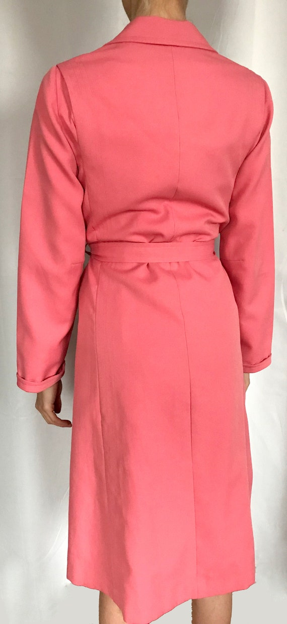 Vintage Rouge Pink Trench Coat - image 6