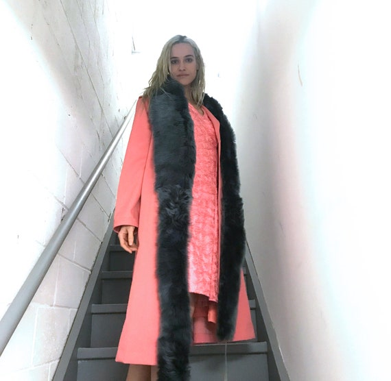 Vintage Rouge Pink Trench Coat - image 3