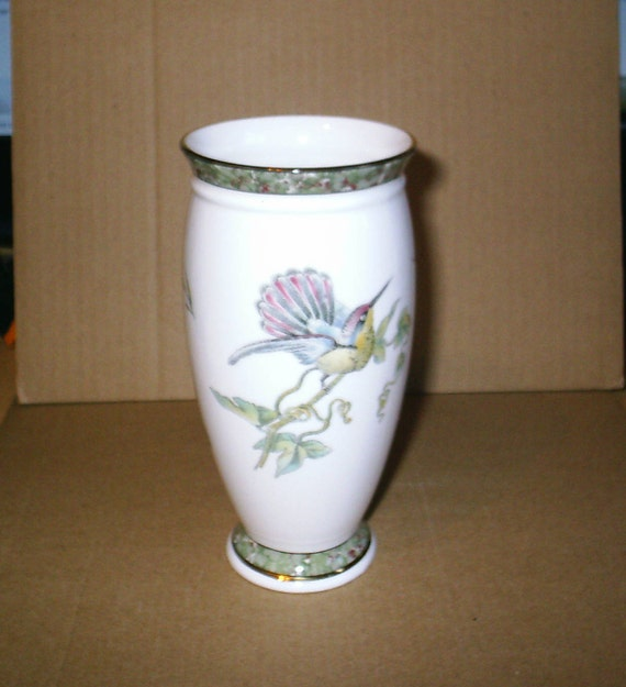 Wedgwood Humming Birds Tall Vase Etsy