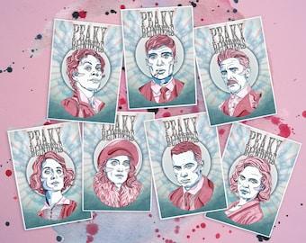 Peaky Blinders Watercolour Print Gift Bundle