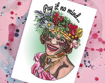 Marsha P Johnson Handmade Card