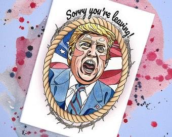 Donald J Trump Handmade Card