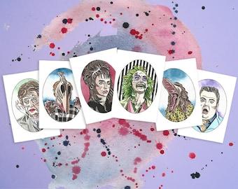 Beetlejuice Watercolour Print Gift Bundle