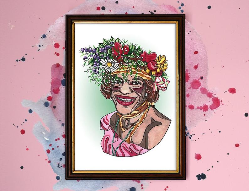 Marsha P Johnson Watercolour Print image 1