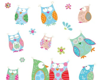Wise Little Owls Sticker sheet