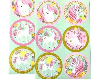 Unicorn sticker sheet x2