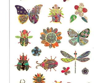Bugs, Butterflies and Fireflies stickers