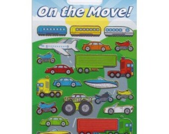 On the Move Sparkle Craft Stickers