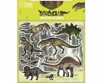 Dinosaur sticker scene, Natural History Museum