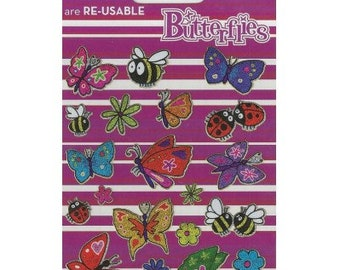 Butterflies Sparkle Craft Stickers