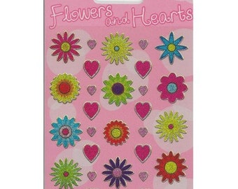 Flowers and Hearts Craft Stickers