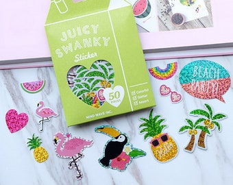 Sparkly Tropical Stickers
