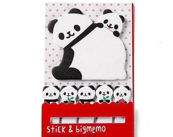 Panda sticky notes memo pad