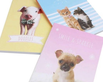 Animal Notebooks, set of 3