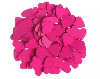 Pink wooden hearts, 18mm rose pink