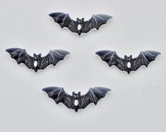 Black bat resin embellishments