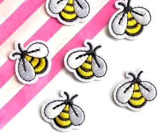 Mini bee iron on patches