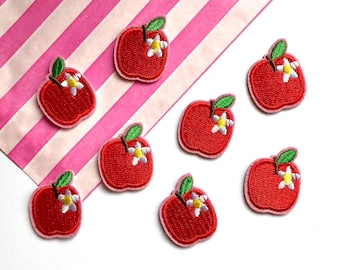 Apple embroidered patch