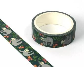 Sloth Washi tape roll, 10m