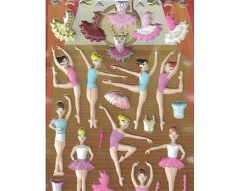Ballet dress up foam stickers