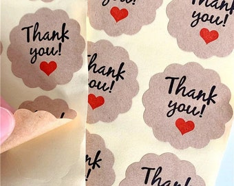 Thank you craft stickers, 35mm