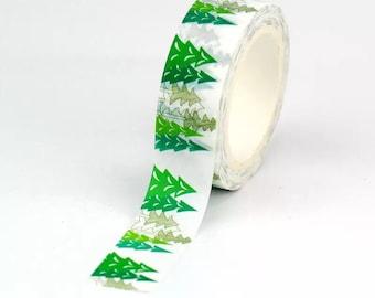 Christmas tree green washi tape