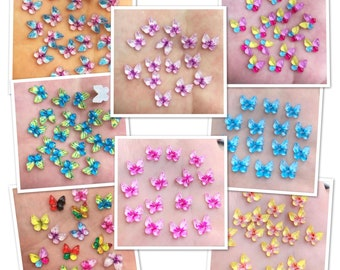 Butterfly acrylic embellishments, set of 20