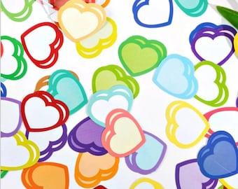 Love heart stickers