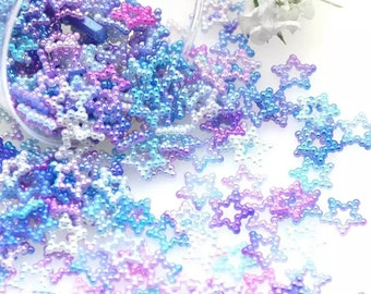 Rainbow stars, pearl effect
