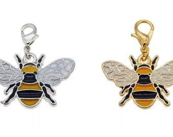 Bee planner charm, lobster clasp