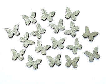 Silver wooden butterfly embellishments