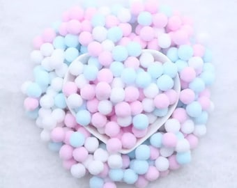 Pom Poms, pink and blue mix