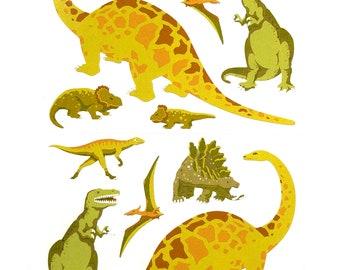 Dinosaur craft stickers