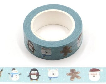 Christmas characters Washi tape roll