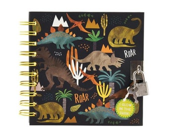 Dinosaur glow in the dark locking notebook,