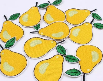 Pear iron on patch