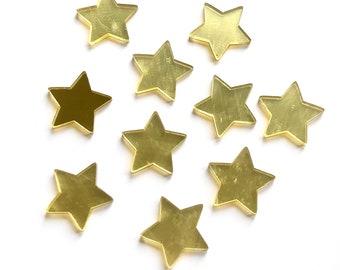 gold mirror finish star cabochons