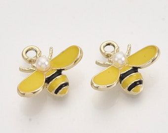 Pearl bee charms