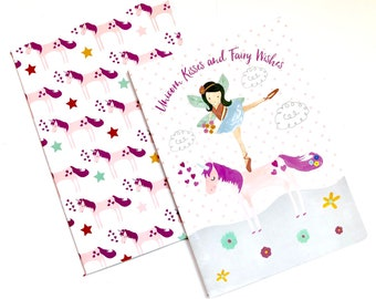 Fairy Unicorn Set of 2 Notebooks