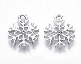 Silver Snowflake charms