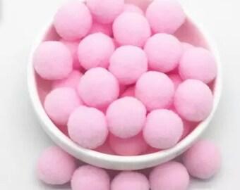 Pom Poms, pale pink mini pom poms